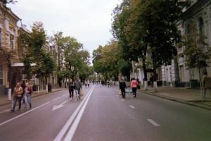 Thoroughfare for pedestrians in downtown Krasnodar