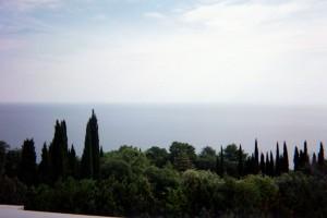 View of Yalta Coastline from Balcony of Libadia Palace