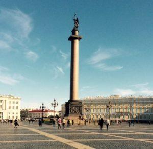 Alexander's Monument in St Petersburg